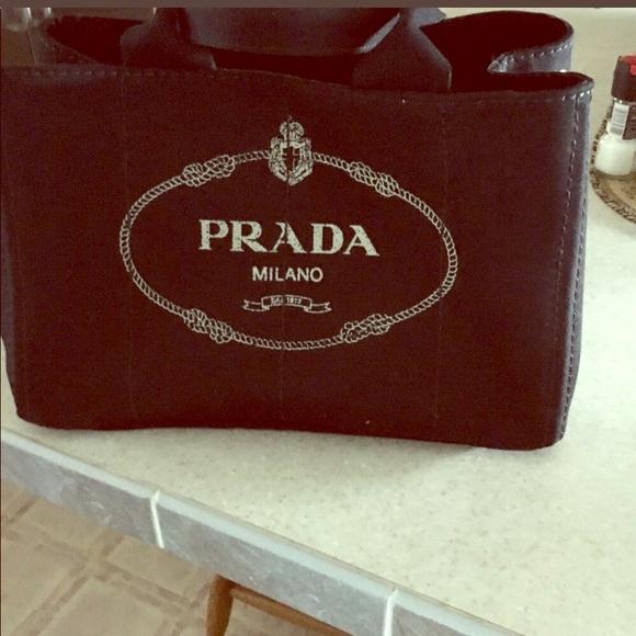 418eddaf5 Prada handbag purse capana shopping tote black. M_5c70b094409c152eebfbb3bf